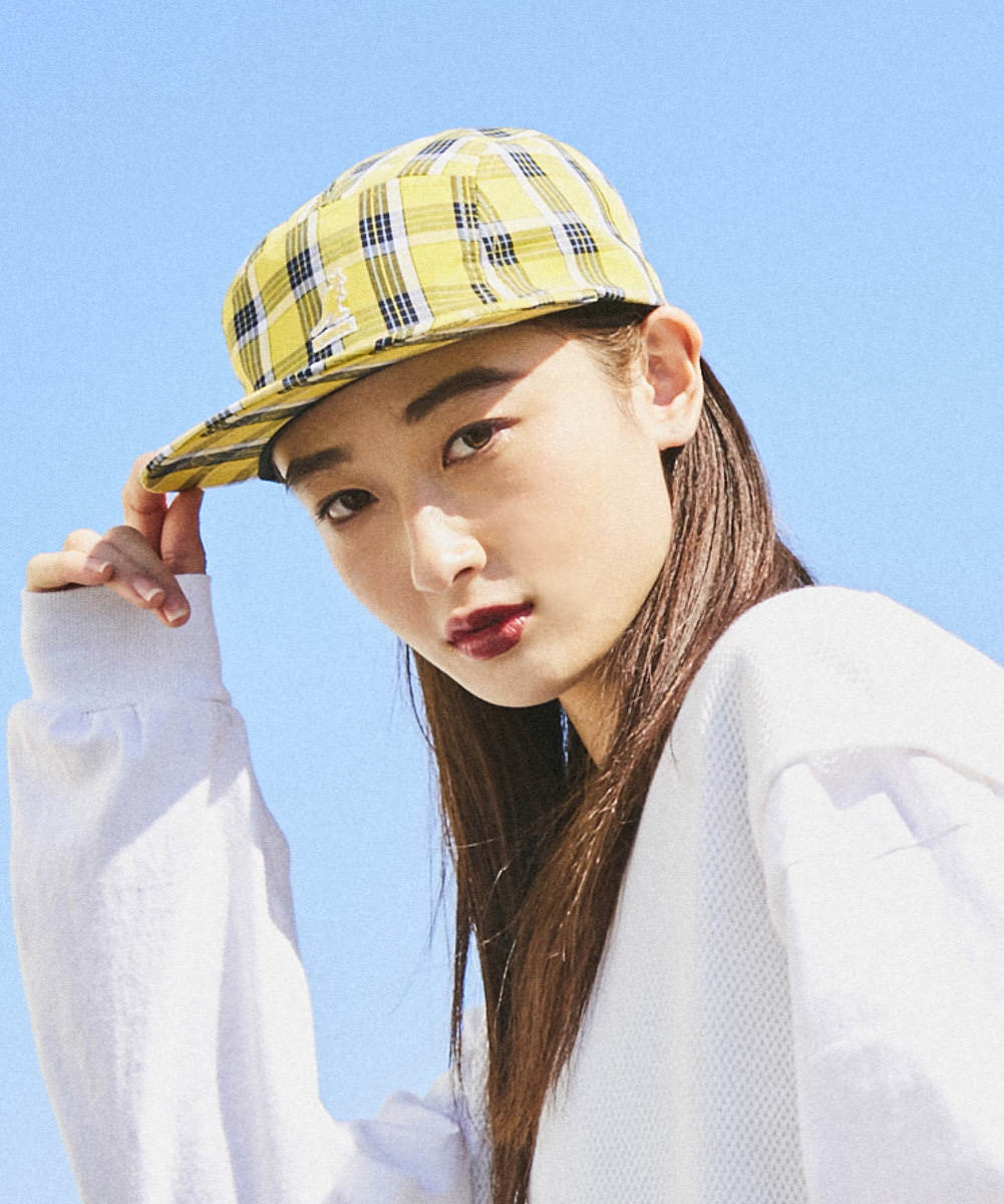 KANGOL Summer Plaid 5Panel Baseball