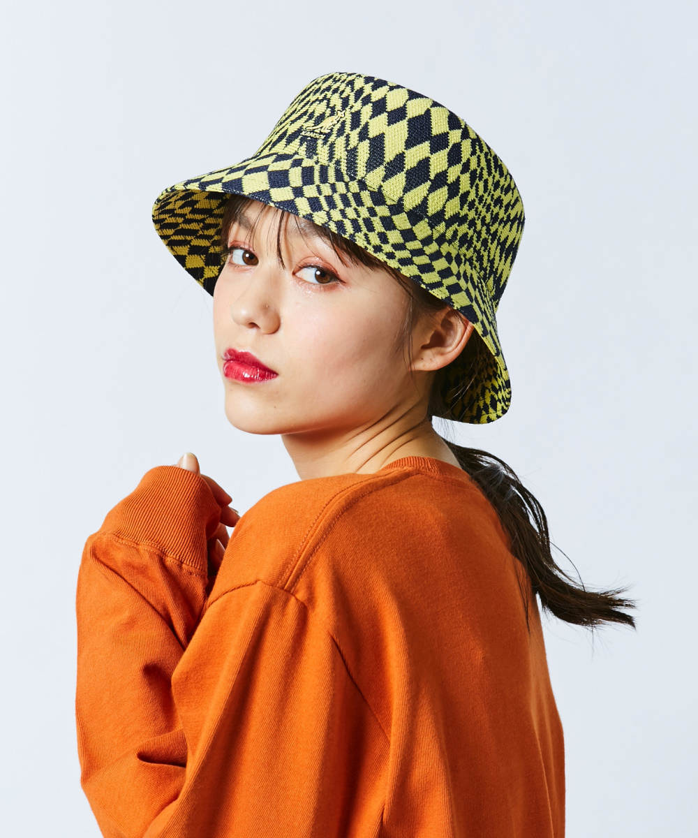 【予約】KANGOL Warped Check Bucket